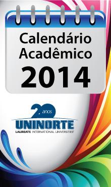 Calendário Acadêmico UniNorte 2014